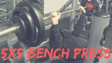 bench press stronglifts vlog 1 bench press 5x5 stronglifts little cutting