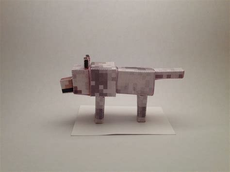 Minecraft Papercraft Wolf - minecraft tamed wolf papercraft www imgkid the