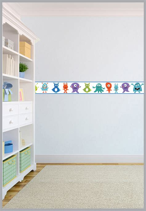 wall borders for bedrooms wallpaper borders children s kids nursery boys girls bedroom wall self adhesive ebay