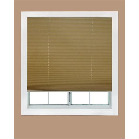 on l shade redi shade natural fabric corded light blocking pleated