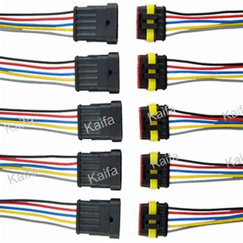 50 sets 2 pin car waterproof electrical connector