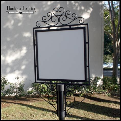 Decorative Sign Holder by Outdoor Metal Sign Holders Decorative Wrought Iron Sign
