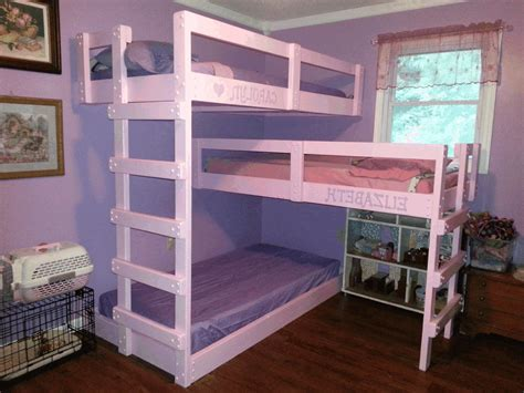 bunk beds in small bedroom sweet violet triple bunk bed cute pink wooden bed frame