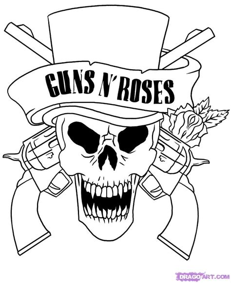 army skull coloring pages how to draw guns n roses skull step by step music pop