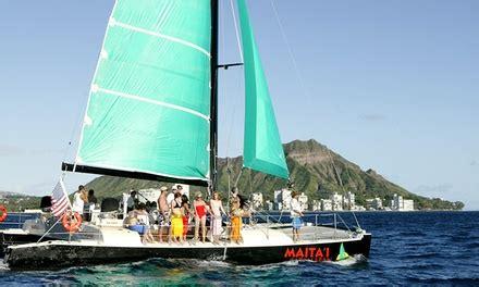 catamaran trade wind sailing trip for two four or six - Catamaran Booze Cruise Hawaii