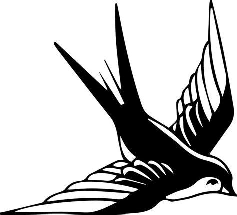 black and white swallow tattoo designs sailor jerry black white bird