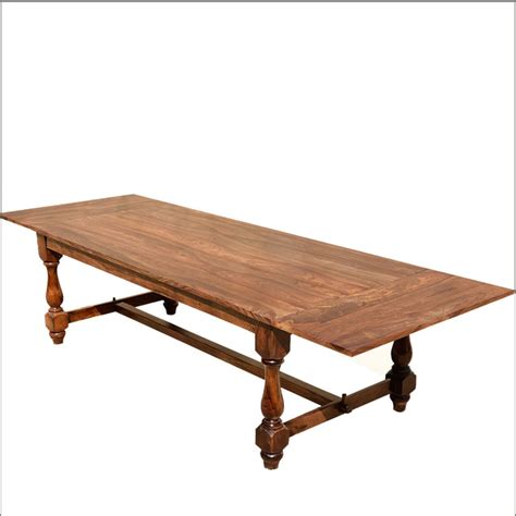 eclectic dining tables rustic medieval refectory baluster pedestal solid wood