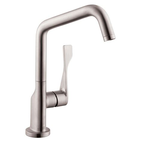 hansgrohe kitchen faucets hansgrohe axor citterio single handle standard kitchen faucet in steel optik 39850801 the home