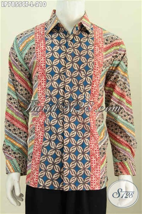 Kemeja Batik Pria Lengan Panjang Hem Batik 209 baju kemeja batik motif kombinasi hem batik halus