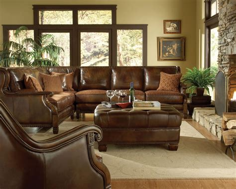 Brown Formal Leather Living Room Sets Raysa House Brown Leather Living Room Set