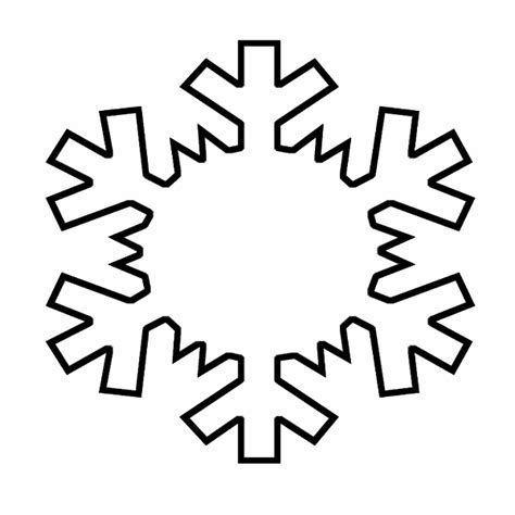search results for snowflake outline template calendar