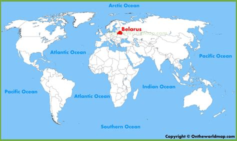 where is on the map belarus location on the world map