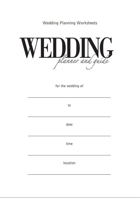 Wedding Planner And Guide by Wedding Planner Printable Wedding Planner And Guide