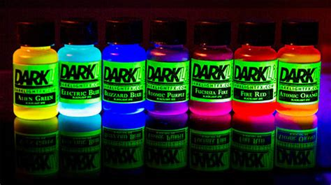 glow in the paint no blacklight glowing liquid neon uv blacklight reactive dye paint ebay