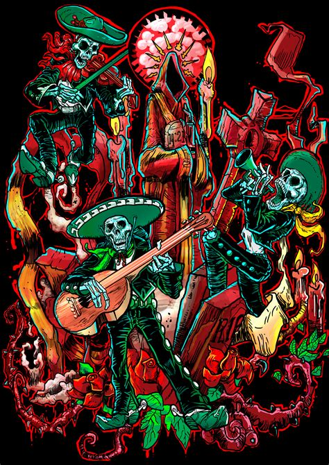 dia de muerte a fistful of art