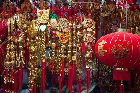 China Decorative Items during new year decorative items stock photo