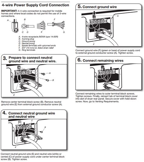 4 prong dryer ul wiring diagram wiring diagram