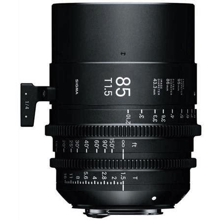 sigma t1.5 cine 85mm full frame prime lens with pl mount