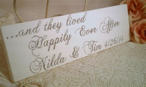 Wedding Sign Elegant Sparkles Happily Ever After Or Your