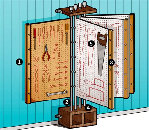 diy tool rack hang your tools with the tool o dex