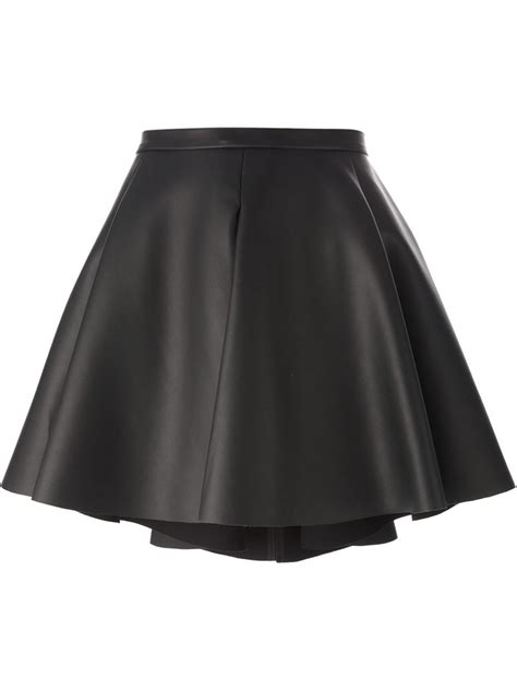 amen faux leather a line skirt in black lyst