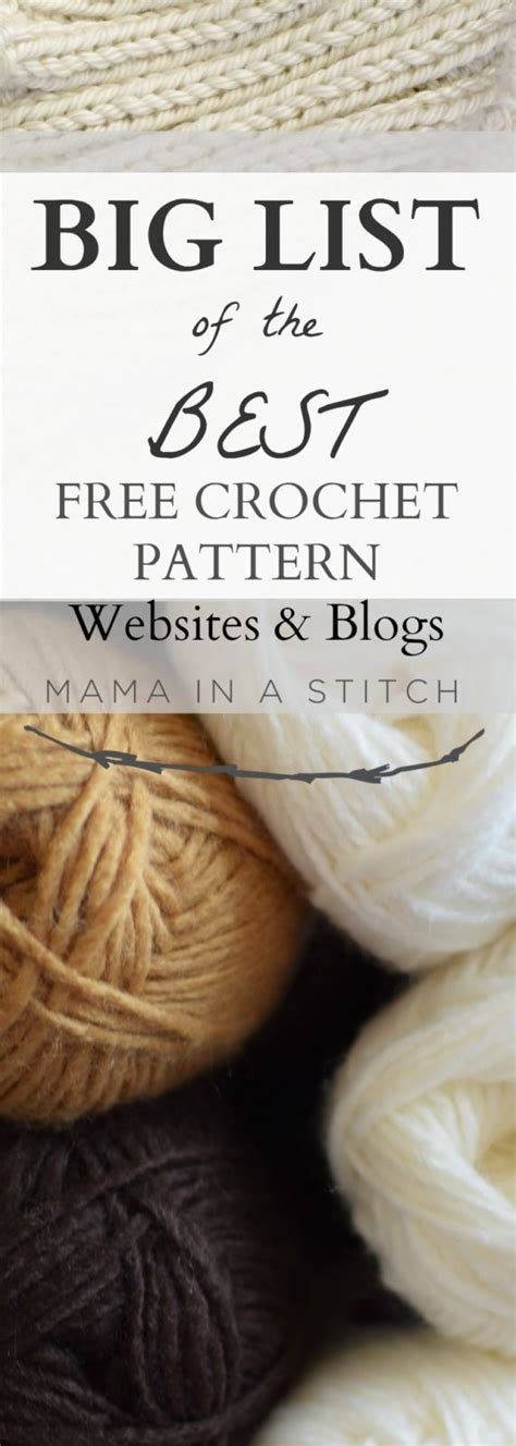 free crochet pattern websites big list of free crochet pattern blogs websites mama