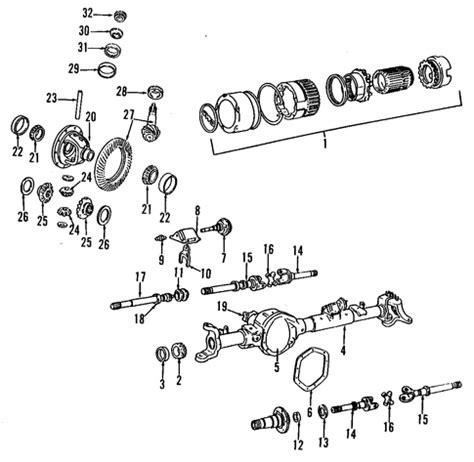 pinion bearings mopar (j0807266) | factory oem