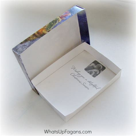 how to make small christmas gift boxes from christmas cards