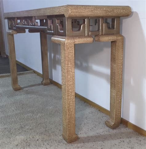 Entry Table 100 1975 Vintage Baker Asian Inspired Console Table Modernism