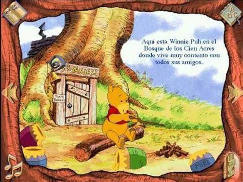imagenes de winnie pooh estudiando libro animado interactivo winnie pooh espa 241 ol parte 1