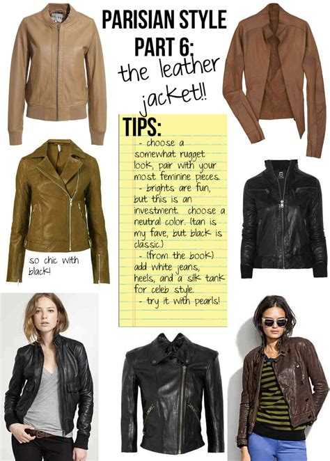 Chic Today Chic And Free by Parisian Style Part 6 The Leather Jacket The Stripe