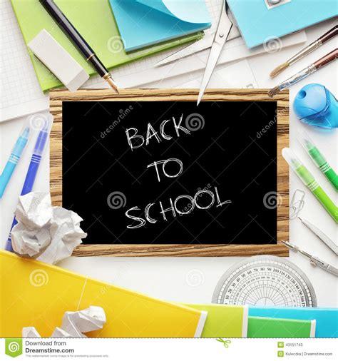articoli x ufficio articoli per ufficio della scuola immagine stock