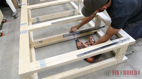 diy bed frame with drawers diy daybed with storage drawers size bed