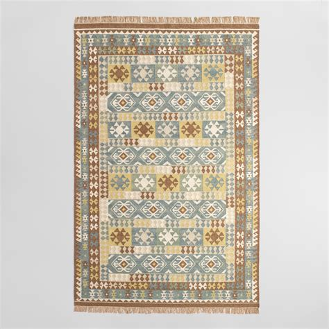 market rugs brown flatweave wool sumin area rug world market