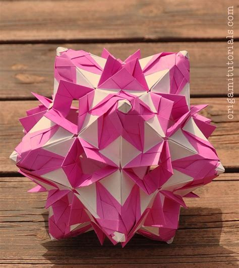 Modular Origami Tutorial - shalimar kusudama tutorial origami tutorials origami