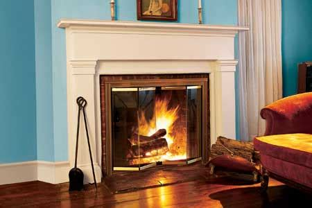 how to install glass fireplace doors this house