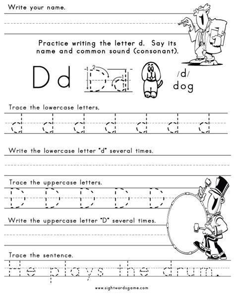 Letter D Worksheets by The Letter D