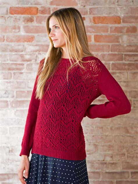 knitted lace sweater patterns winifred chevron lace sweater knitting pattern