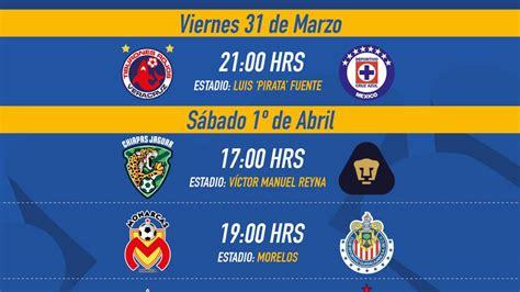 Calendario Liga Mx Clausura Jornada 17 Liga Mx Fechas Y Horarios De La Jornada 12 Clausura