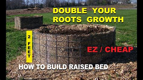 build  raised wood chip organic gardening bed