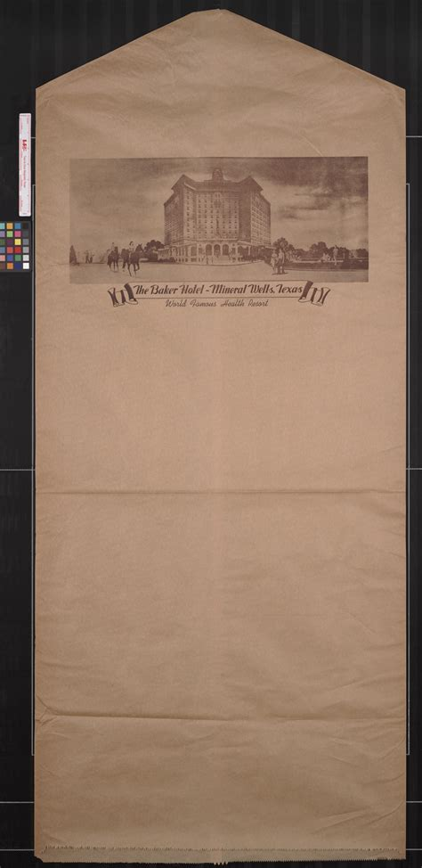 [Dry Cleaning Bag from Baker Hotel]   The Portal to Texas