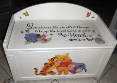 winnie the pooh toy box bench winnie the pooh toy box bench 25 best ideas about painted toy chest on pinterest