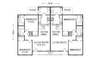 Floor Plans For Duplexes by Duplex Plan J891d