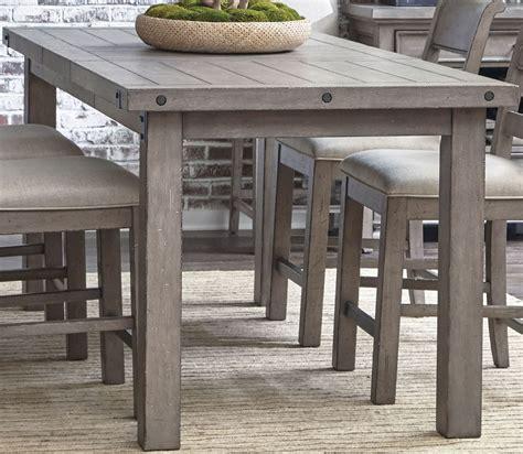 prospect hill gray rectangular counter height dining