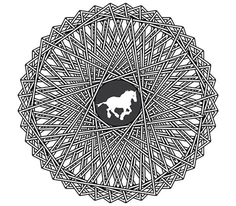 mandala coloring pages horse free horse coloring pages