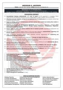 Sample Resume For System Administrator