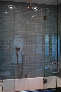 Glass Subway Tile Bathroom Ideas Gray Glass Subway Tile In Fog Bank Modwalls Lush 3x6