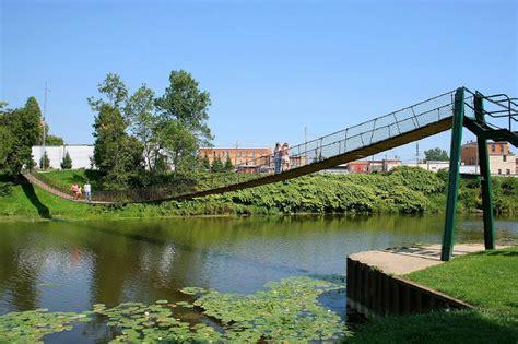 swinging bridge croswell mi bridgemeister croswell swinging bridge