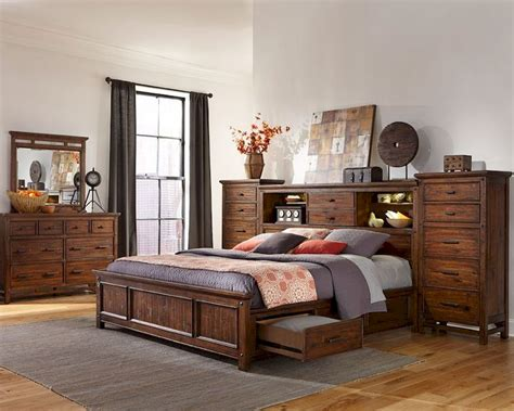 Storage Bedroom Furniture Sets Intercon Storage Bedroom Set Wolf Creek Inwk Br 6190set