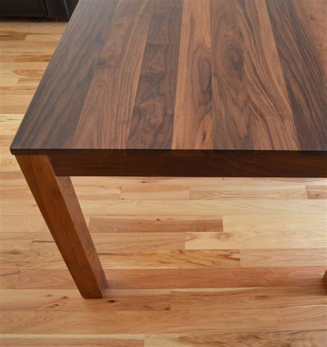 black walnut table top custom made solid walnut dining table by fabitecture